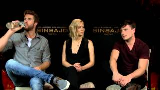 Interview with Jennifer Lawrence, Josh Hutcherson and Liam Hemsworth