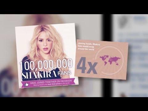 Shakira devient la célébrité la plus aimée sur Facebook