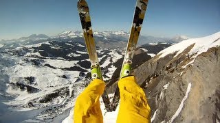 Outrun - GoPro HD: Avalanche Cliff Jump with Matthias Giraud