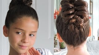 Peinado Facil -Trenza hecha  con un Lapiz -    Fish bone braid!