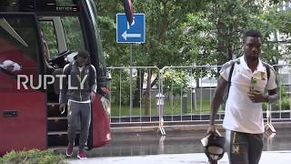Russia: Cameroon football team arrives in Moscow ahead of match with Chile