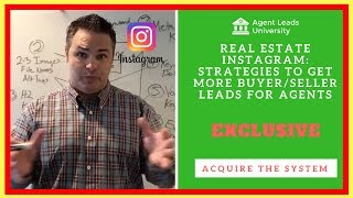 Real Estate Instagram: How To Get Buyer Seller Leads For Real Estate Agent