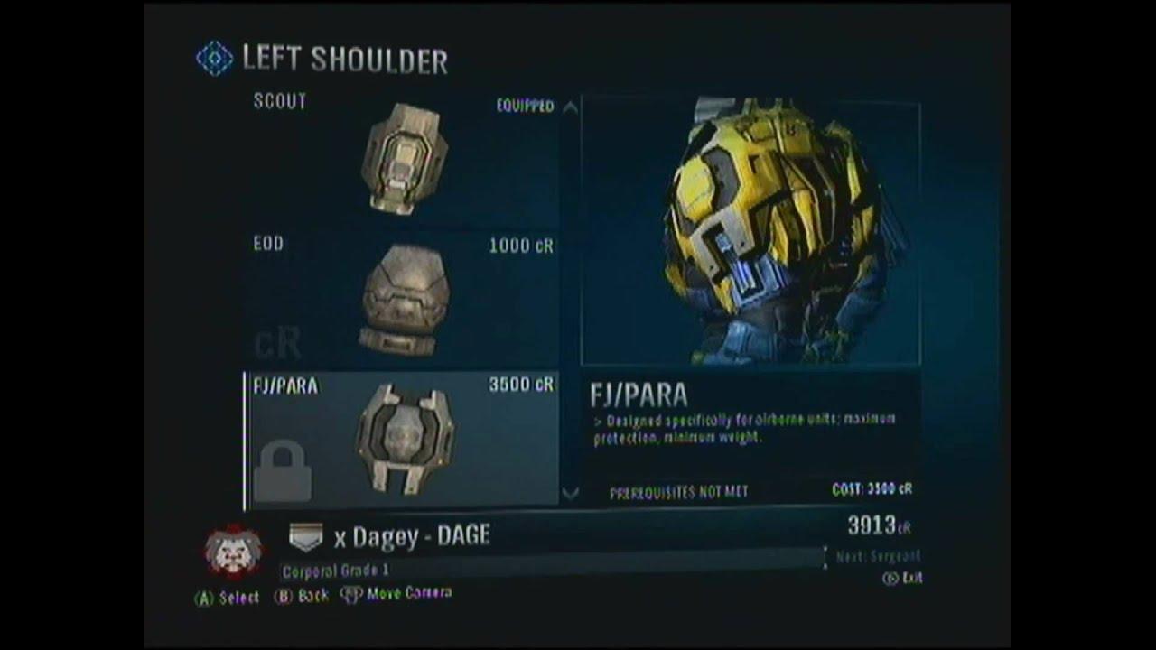 Halo Reach Beta - Armour Sets- - YouTube