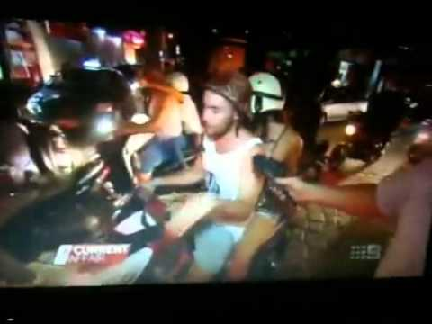 Funny Drunk Man On Scooter Interview