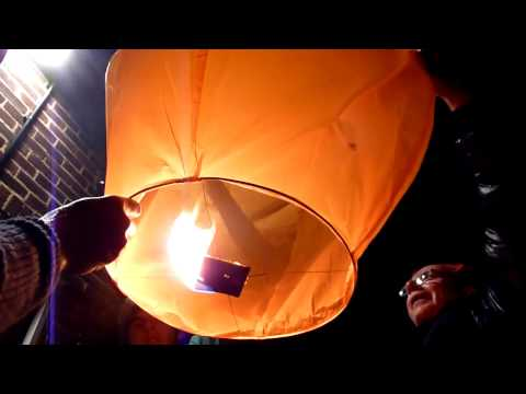 How NOT to launch a sky lantern!