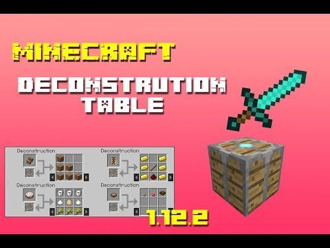 ¡DESCRAFTEA CUALQUIER COSA! -Deconstruction Table Mod para Minecraft 1.12.2-(español)