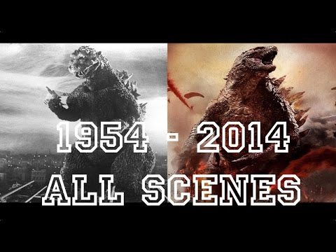 Godzilla All Movies [ 1954 To 2014 ] Full Scenes And Transformations video