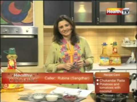 ''Healthy Cooking''   Ep # CHUKANDAR KA RAITA   POTATOES & TOMATOES WITH COCONUT part 1 24 JAN 12 Health tv