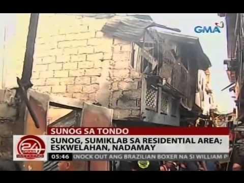 24 Oras: Sunog, sumiklab sa isang residential area sa Tondo, Maynila