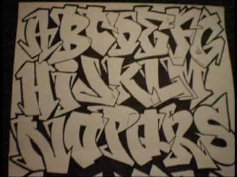 Graffiti Alphabet By WIZARD.