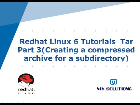 Tar Part 3 ( Creating a compressed archive for a subdirectory)