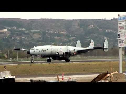 Lockheed EC-121 Super Constellation Take-off from Camarillo 1/14/12