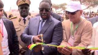 Macky Sall inaugure la centrale solaire de Santhiou Mékhé