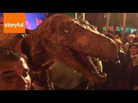 Dinosaur Invades Fiesta Nacional Del Sol