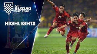 Đức Huy lập siêu phẩm, Việt Nam nắm lợi thế trước trận chung kết lượt về với Malaysia | VFF Channel