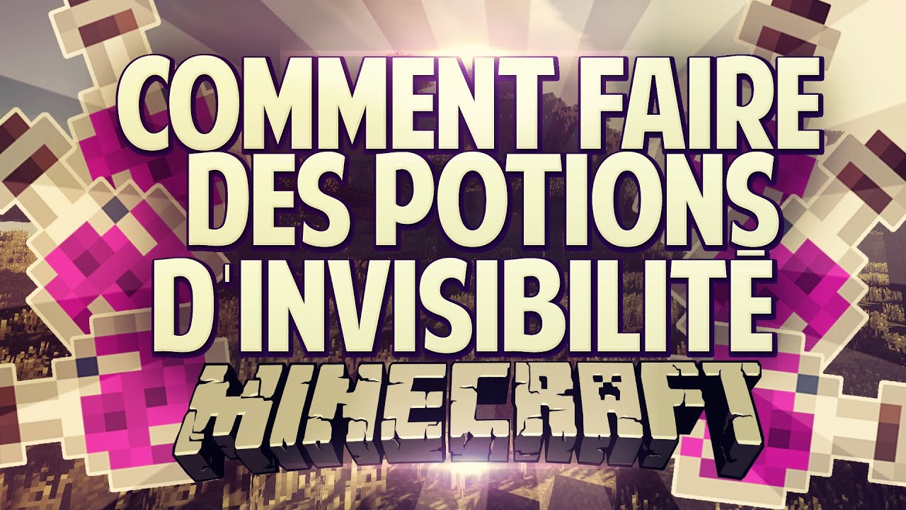 comment faire des potion d 39 invisibilit minecraft 1 5 2 youtube. Black Bedroom Furniture Sets. Home Design Ideas