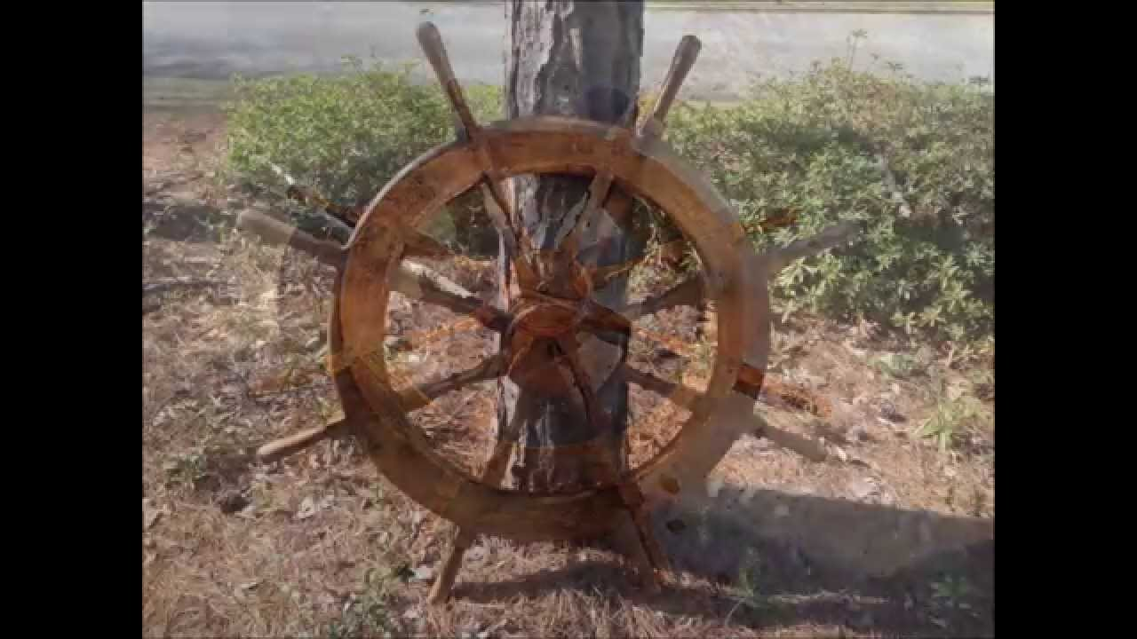 Building A Wooden Ships Wheel Youtube