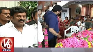 Minister Talasani Srinivas Yadav Pay Tributes To Veteran Actor Madala Ranga Rao