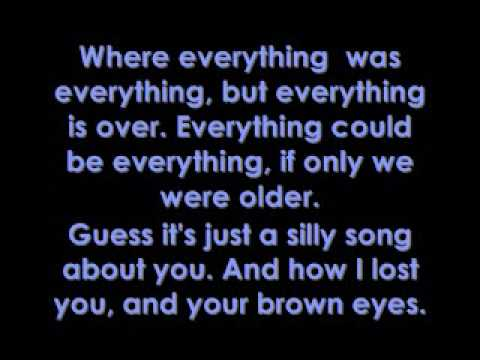 Brown Eyes - Lady Gaga Lyrics video
