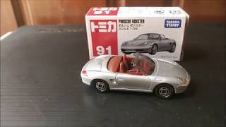 Unboxing Tomica 91 Porsche Boxster