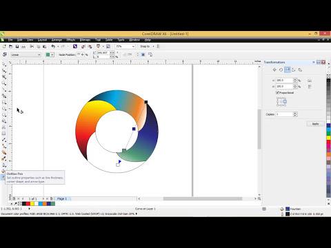 Cara membuat logo dengan kesan 3d pada corelDRAW x6
