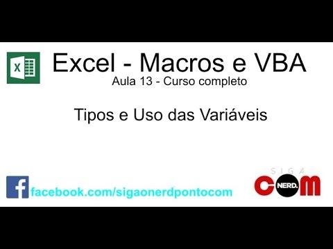#13 - Macros e VBA - Excel - Curso Completo e Gratuito