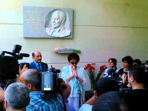 Открытие мемориальной доски Муслима Магомаева в Баку.