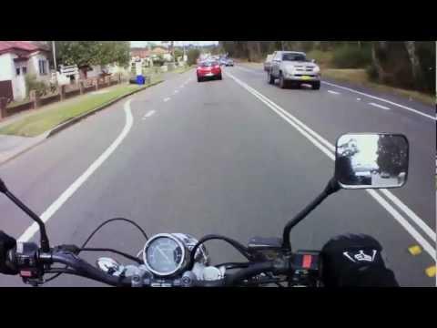 Noob On A Bike Vlog Nov 2012 Yamaha Virago XV250 Custom Bobber ACT20 Action camera
