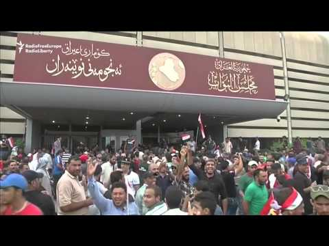 Iraqi Protesters Storm Green Zone, Enter Parliament