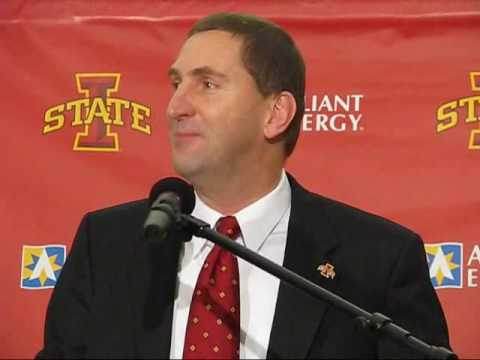 Paul Rhoads introduced as Iowa State football coach Video