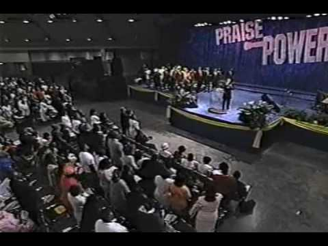 Bishop Clarence McClendon preaching at Praise Power
