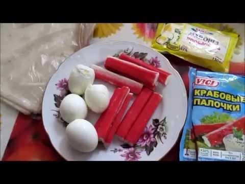 Как приготовить Рулет из лаваша с крабовыми палочками