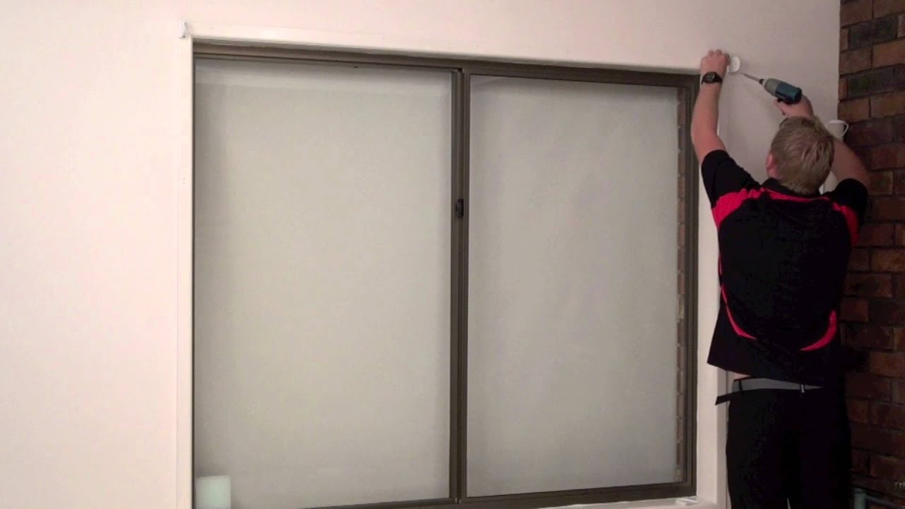 how to install a face fit roller blind youtube. Black Bedroom Furniture Sets. Home Design Ideas