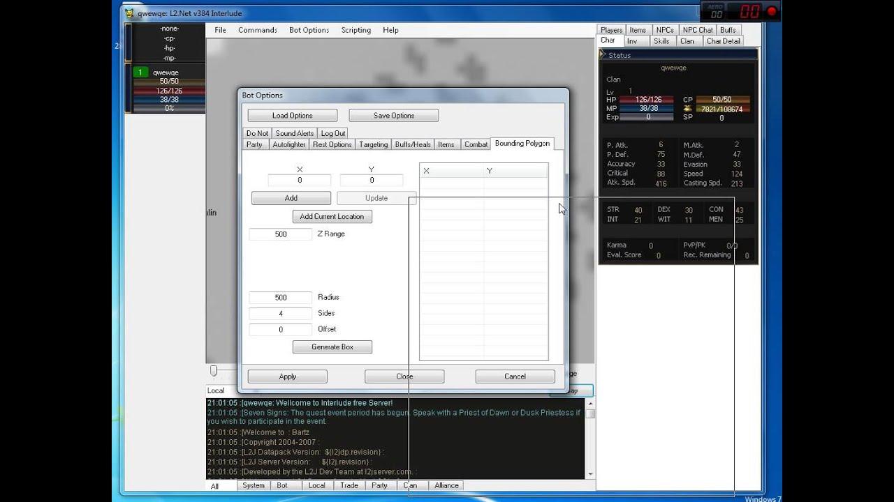 Бот, La2, Lineage, L2, interlude, взлом, хак, ботоводство, Lineage (Video G