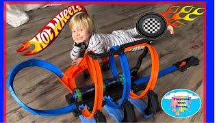 Hot wheels corkscrew crash toy review