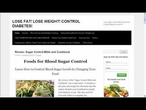 Sugar Control Diet  Get Acquainted with Diabetes & Fight Diabetes 2
