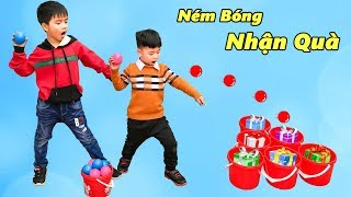 Trò Chơi Ném Bóng Nhận Quà ♥ Min Min TV Minh Khoa
