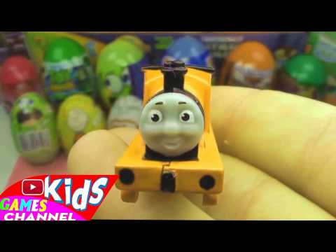 20 Surprise Eggs. Kinder Surprise Cars 2 Thomas Spongebob Disney Pixar