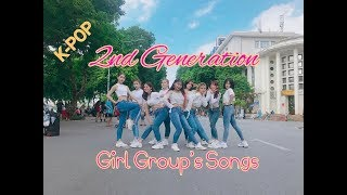 [KPOP IN PUBLIC CHALLENGE] Medley 2nd Generation Girl Group's Songs Dance cover by W-Unit