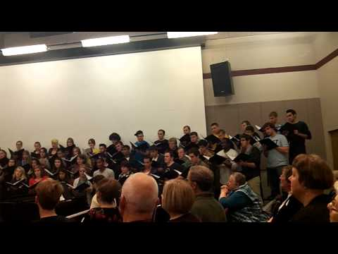 Augustana College, Rock Island, IL choir during homecoming 2012 choir reunion