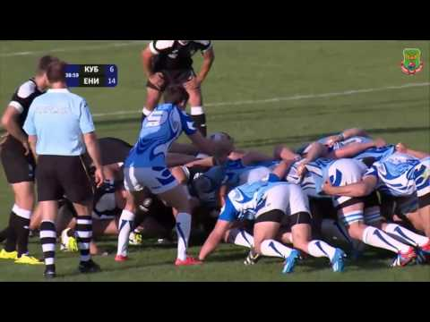 Georgian rugby centre David Kacharava - four tries in one game | Russian Rugby Championship 2016