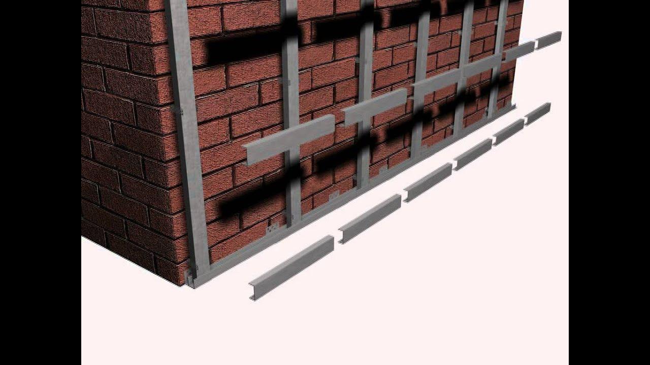 Монтаж профиля для фасада
