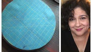 Inexpensive rotating cutting mat