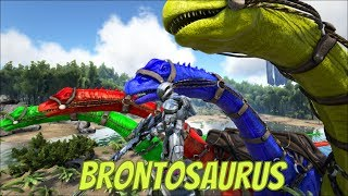 Learn Colors with Dinosaur for Children (Brontosaurus) | Learning Video for Kids
