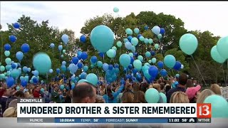 Murdered brother and sister remembered