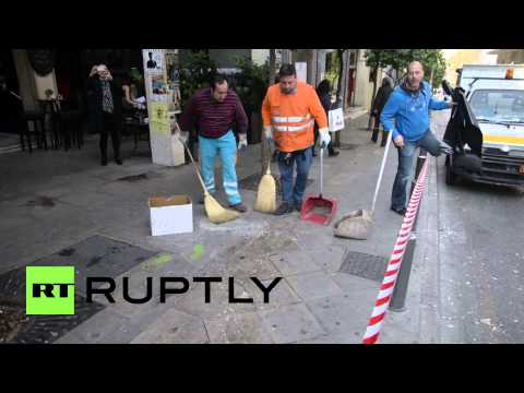 Greece: Bomb rips through Athens a day before Merkel visit