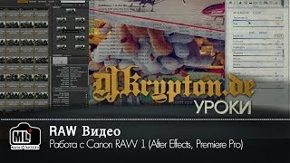 УРОК: Работа с Сanon RAW 1 (After Effects, Premiere Pro)