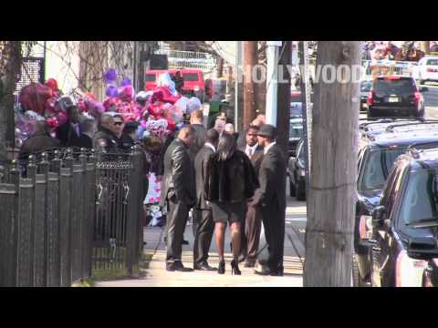 Bobby Brown Leaves Whitney Houston's Funeral Early