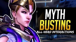 Overwatch Mythbusters -  MOIRA - All Hero Interactions & more!