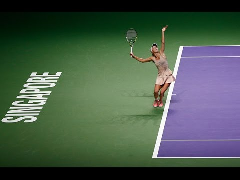 Caroline Wozniacki vs Maria Sharapova   2014 WTA Finals Highlights